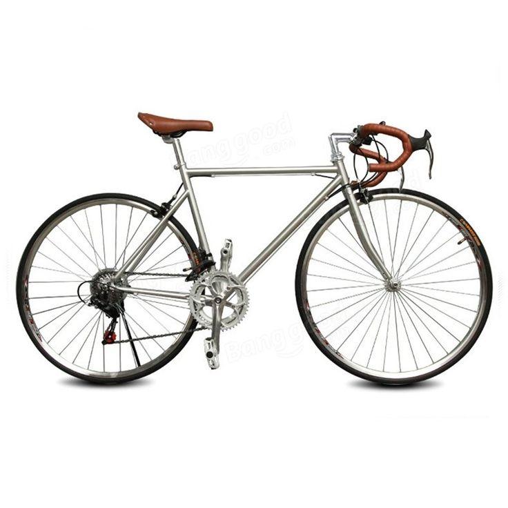 Só R$671.85, compra melhor 14s ao ar livre 21 velocidade bicicleta de estrada curva handbar 15 centímetros 700cc pneu de alto carbono bicicleta de estrada de aço venda loja online a preço de atacado.US / EU armazém.