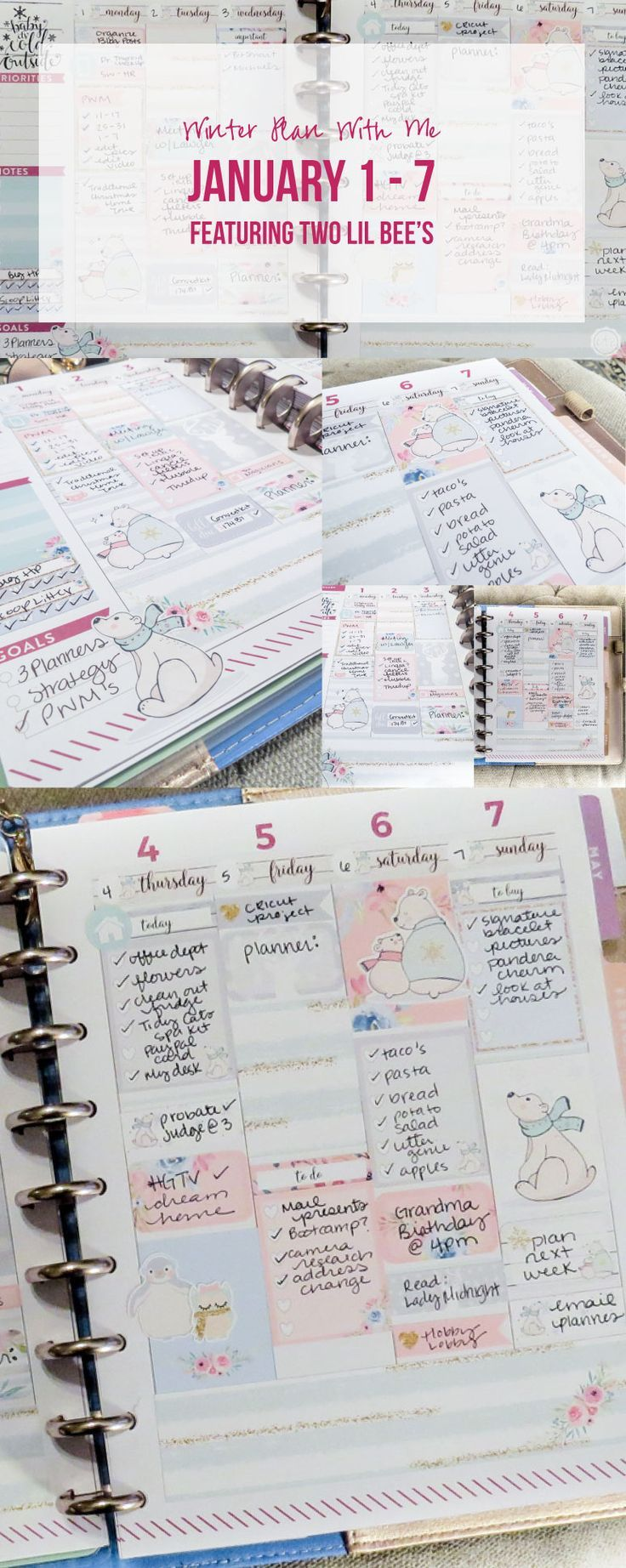 Winter Plan with Me January 1 - 7 featuring Two Lil Bee's