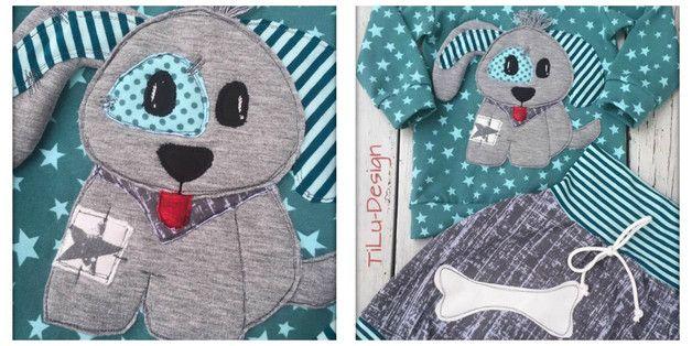 Nähanleitungen Kind - Applikationsvorlage Hund - ein Designerstück von tilu-design bei DaWanda