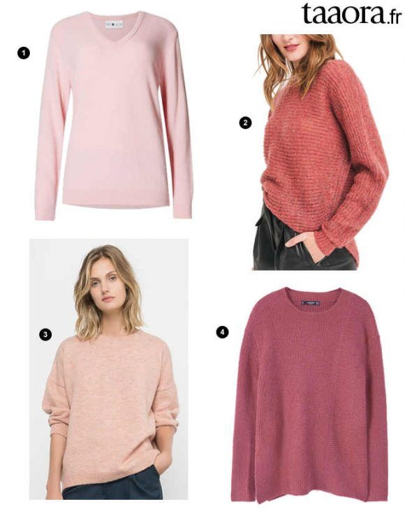 f51f4ae0cf4d11 Pin by Taaora on Shopping | Pull rose, Hiver 2016, Automne hiver