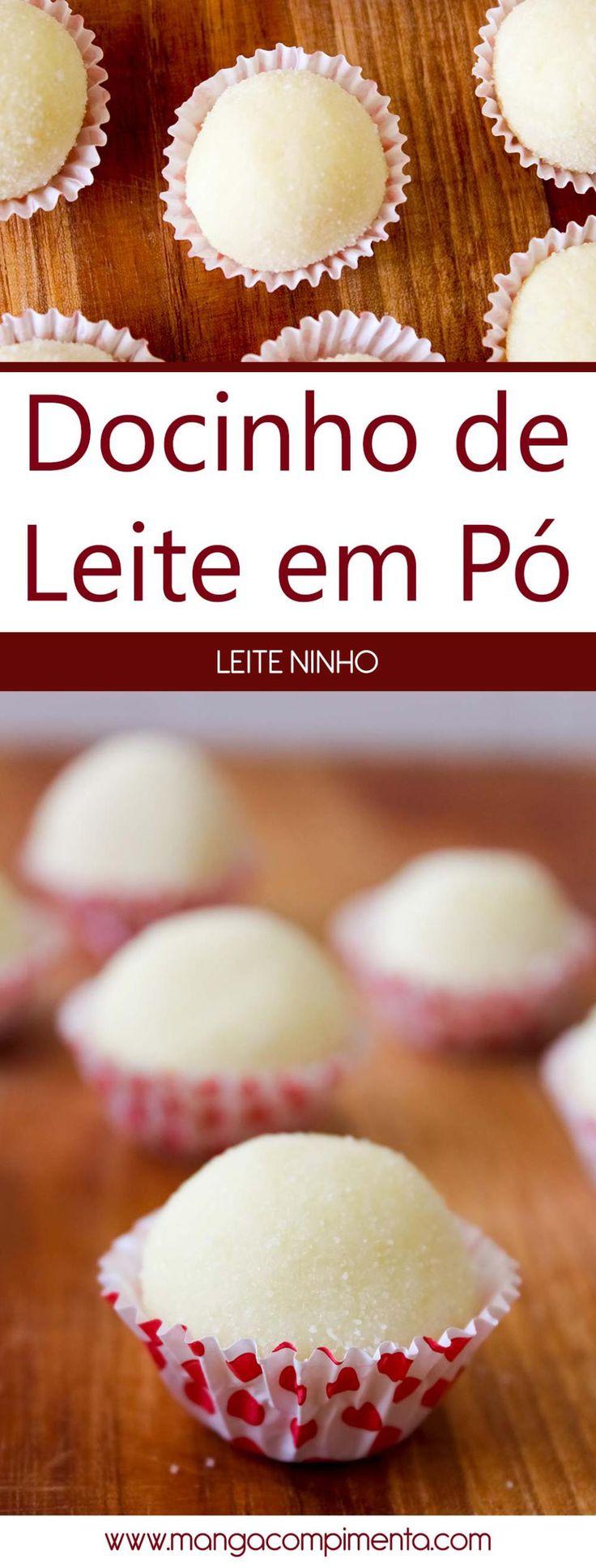 Docinho de Leite em Pó | Leite Ninho - receita para festas de aniversário. #receita #comida #doce