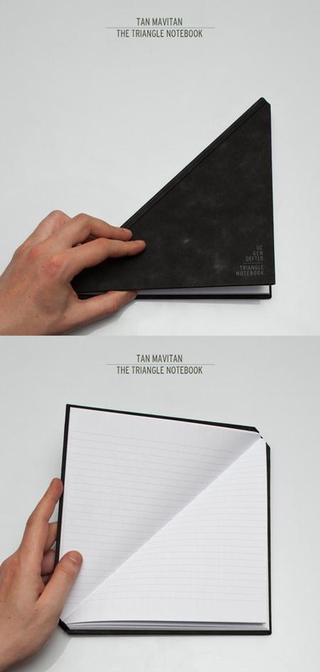 triangle notebook by tan mavitan   http://www.tanmavitan.com/graphic.html