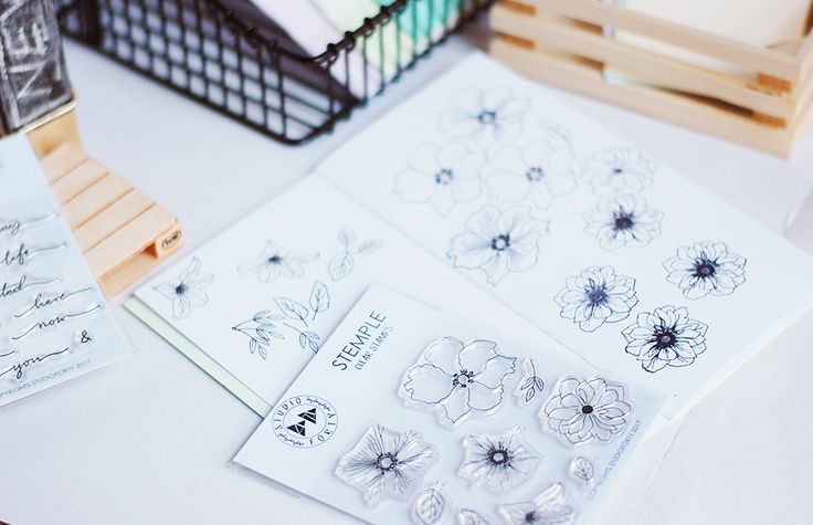 Flowers 2 - bestseller clear stamps from StudioForty