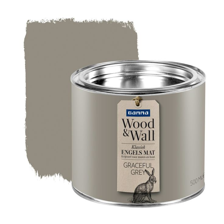GAMMA Wood&Wall krijtverf Graceful Grey 500 ml