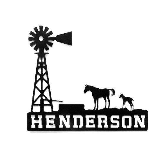 Hey, I found this really awesome Etsy listing at https://www.etsy.com/listing/126114330/windmill-with-horse-and-colt-custom-name