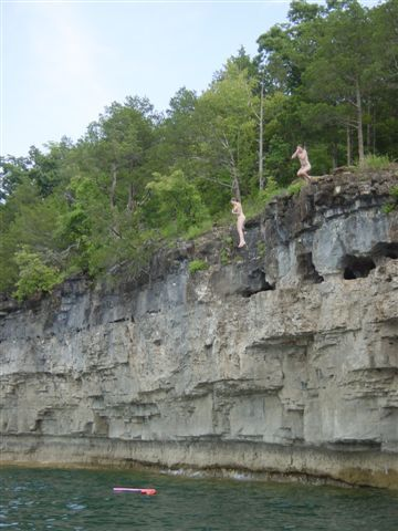 Norfolk Lake~Arkansas~My husband and I jumped off this cliff~ You jump in, and swim to your life vest~SO much fun!!