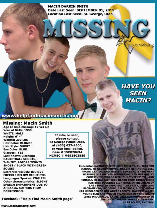 Macin Smith – Sept. 1, 2015 – St. George, UT