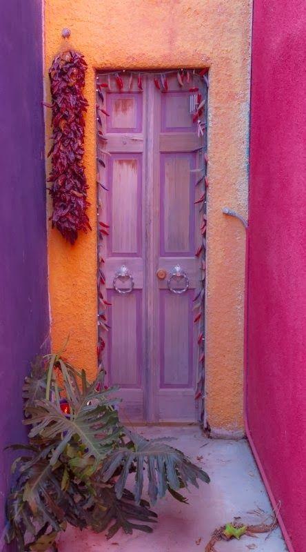 Color Trend 2014: Radiant Orchid (15 Beautiful Exterior Doors) | The Kim Six Fix