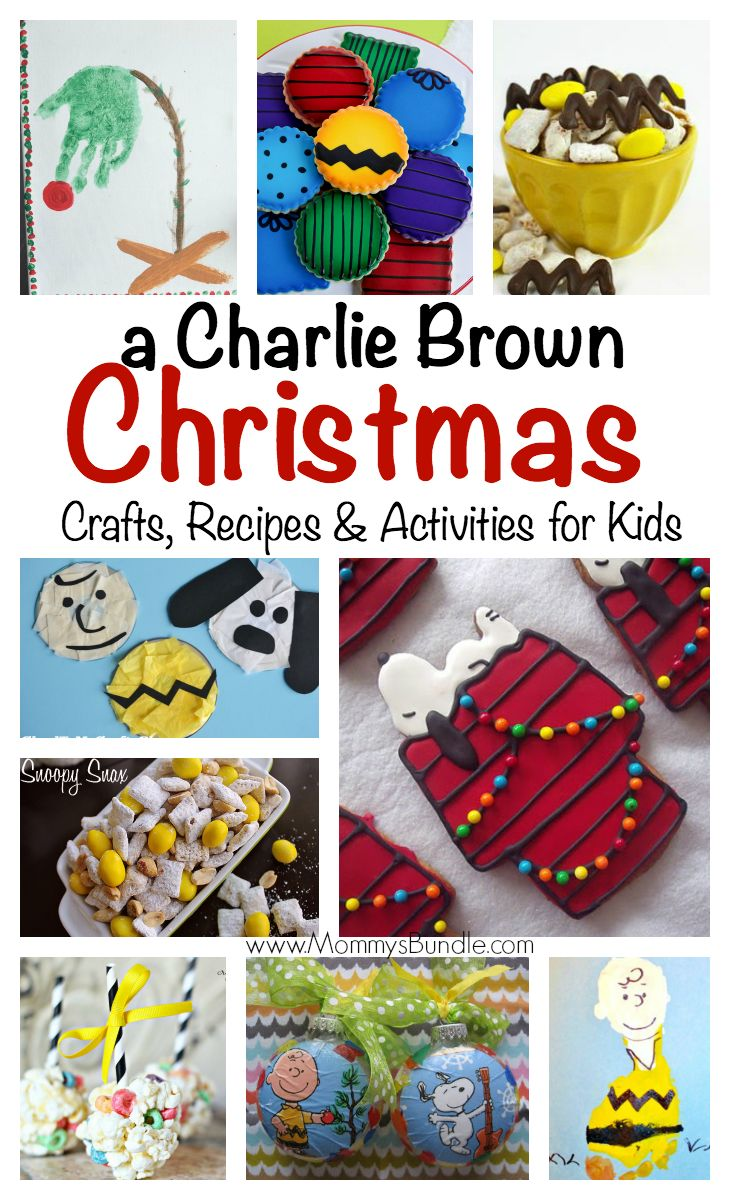 Charlie Brown Christmas: Crafts, Recipes & Activities for Kids: A roundup of yummy foods and crafts for your holiday party of Peanuts viewing!