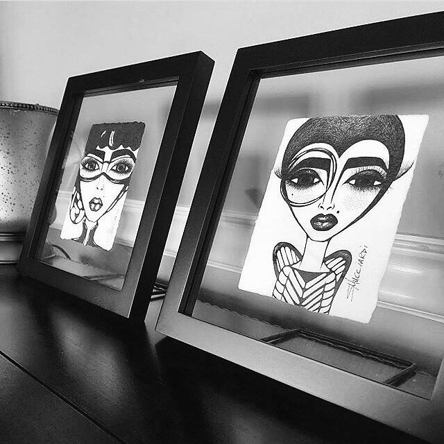 """36 Likes, 5 Comments - Art by Sandra Mucciardi (@sandra_mucciardi) on Instagram: """"Beautifully framed and living happily in Maryland! LOVE! Thanks for the pic, Denise #inkdrawings…"""""""