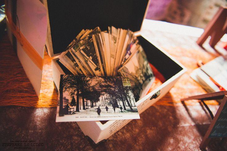 Cartes postales pour écrire dans le livre d'or