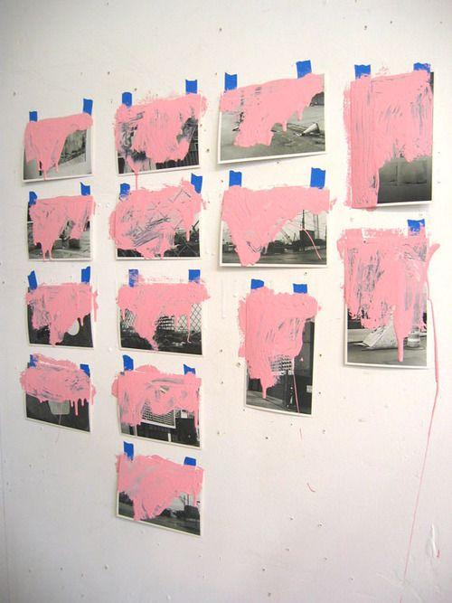 tumblr-lk2p35x8a41qapa9ao1-500.jpg rosada arte papeles cuadrados cuadros