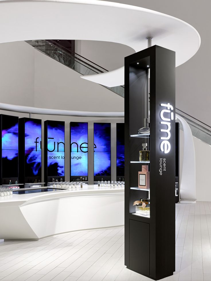 Coty Fume Scent Lounge, Yorkdale Shopping Centre, Toronto, ON. Complete interactive brand environment. Built by Eventscape. Design by DKStudio Architects...
