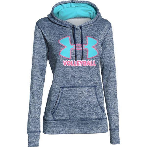 Under Armour Women's Big Logo Twist Volleyball Hoodie - Navy