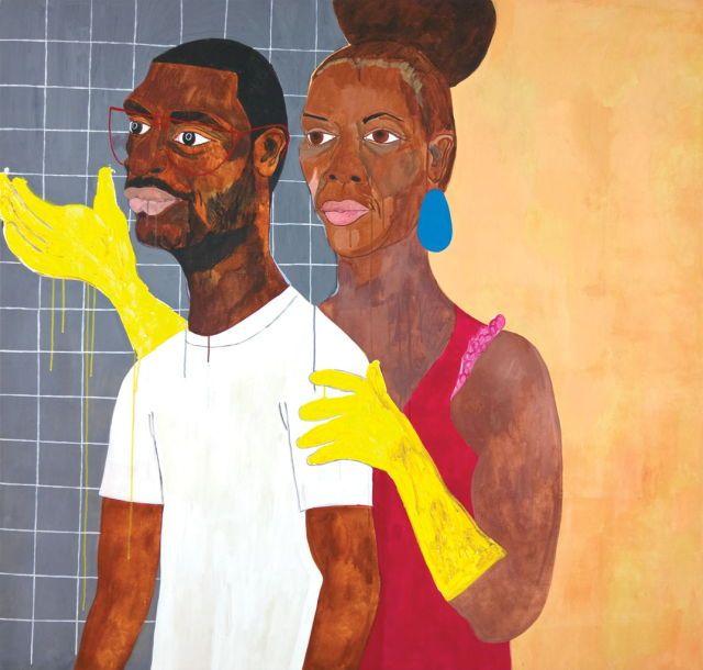 Khaaliqua & Jeff, 2007, by Nina Chanel Abney