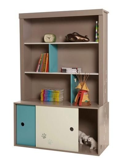 Bookshelf GREY MEDIUM  ALL OVER PRINTED