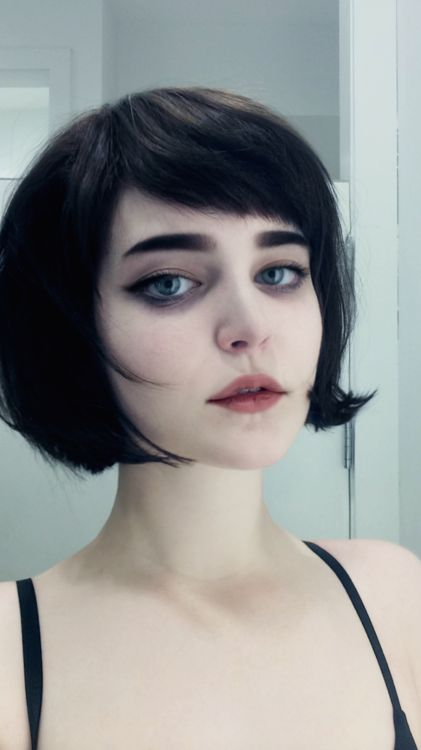 Short bangs and a bob …