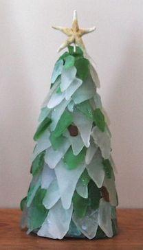 Sea Glass Crafts - Christmas tree