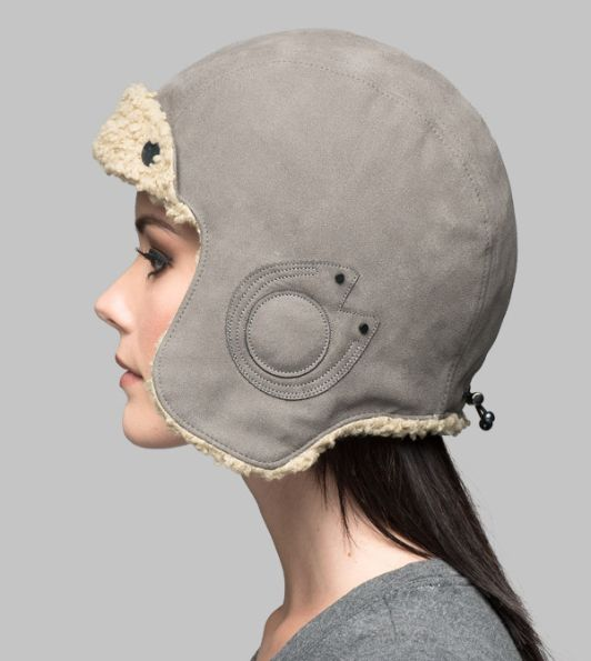 Gorro aviador Clyde Grey