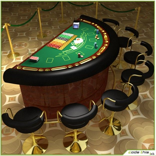 Casino Blackjack Table By Codethislab Please Be Aware That This Is Not A Real Object This Model Is Suitable For High Re Casino Table Blackjack Poker