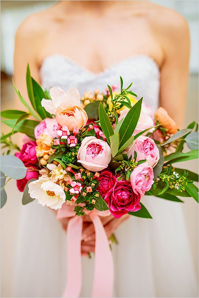 gorgeous fresh spring wedding bouquets