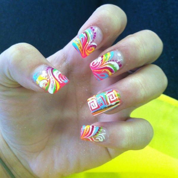 Nails nails nails nails: Nails Trends, Nails Nails, Nails Design, Rainbows, Colors Nails, Tribal Nails, Neon Nails, Nails Art Design, Art Nails