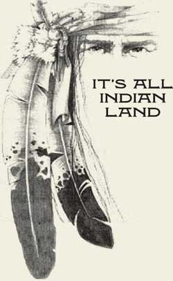 """USA It is all """"Indian Land.""""Two feather 1810"""