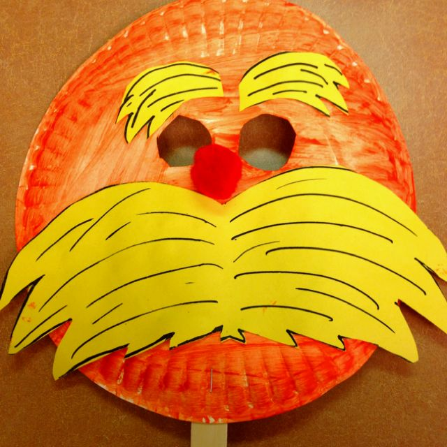 The Lorax mask - Dr. Seuss #crafts for kids