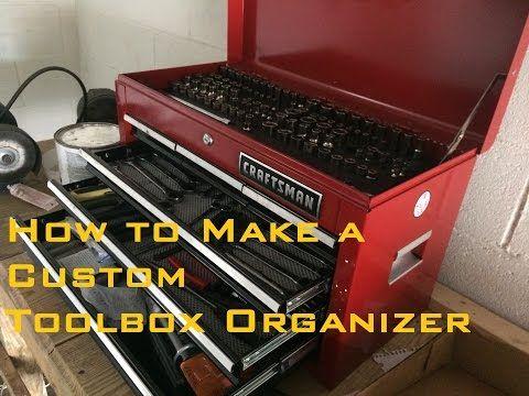 Make custom toolbox socket organizer.