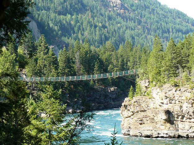 Charming question pics of swinging bridge in montana