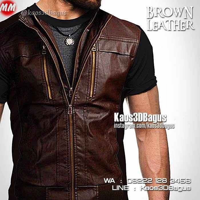 Kaos 3D Jaket Kulit Coklat, Kaos3D Keren Gambar Jaket Kulit, Brown Leather Jacket, Kaos Metal, Kaos 3D Unik Gambar Jaket, https://instagram.com/kaos3dbagus, WA : 08222 128 3456, LINE : Kaos3DBagus