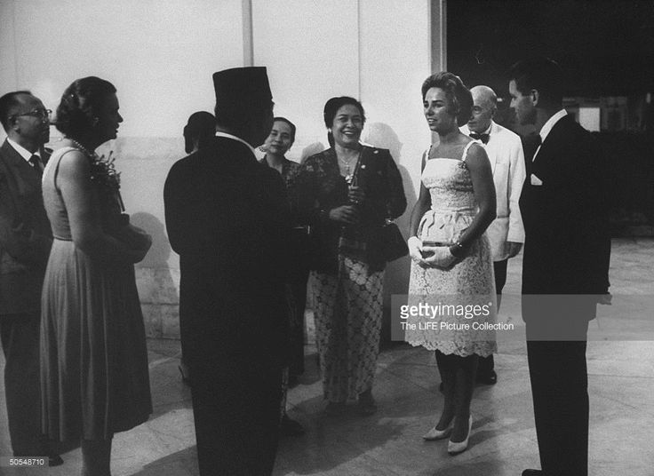 Robert F. Kennedy and wife talking with Sukarno. News Photo | Getty Images