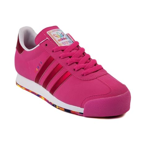 womens adidas samoa athletic shoe in pink pink at journeys