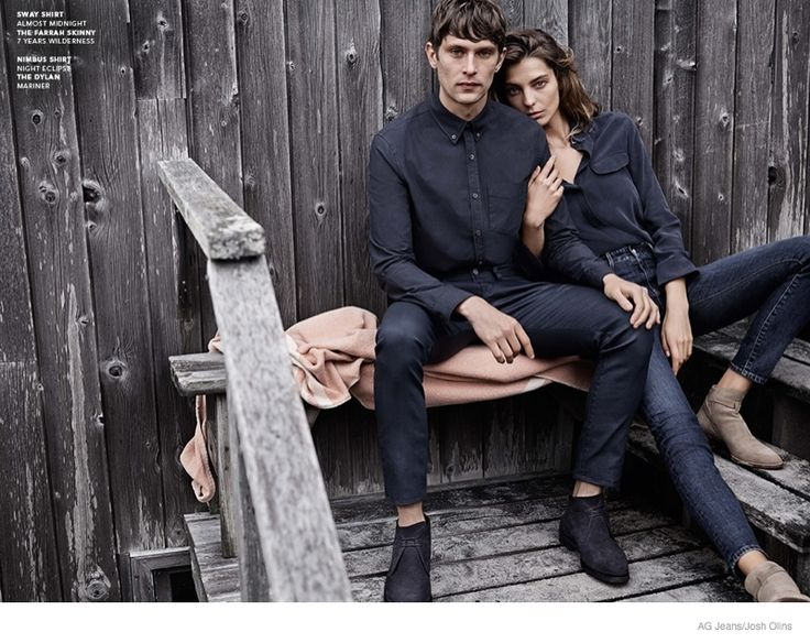 Daria Werbowy and Mathias Lauridsen for AG Jeans Fall 2014 Campaign