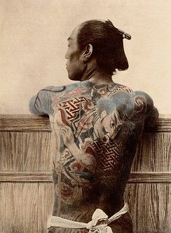 Photo Paysan tatoué - Kusakabe Kimbei