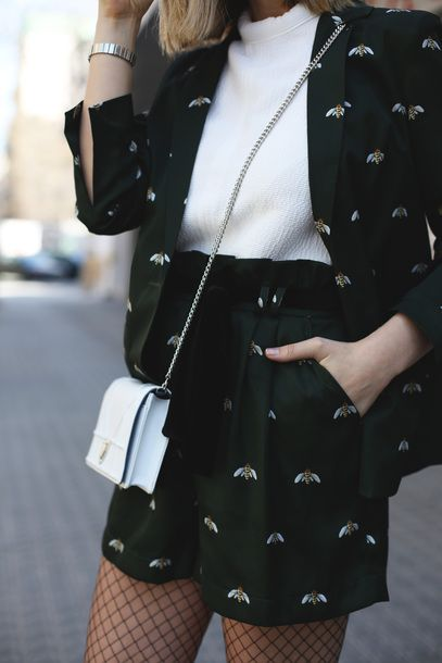 Spring Summer Work Outfit Street Style Animal Printed Mini Skirt Suit With White Blouse