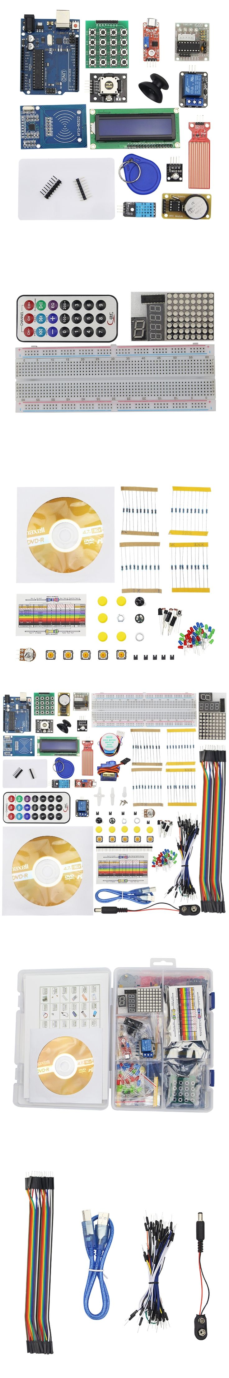 Upgraded Advanced Version Starter Kit the RFID Learn Suite Kit Lcd 1602 + Flame Sensor with Retail Box for Arduino UNO R3