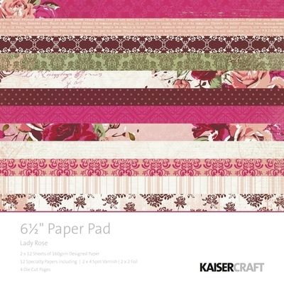 Lady Rose Paper Pad 6.5