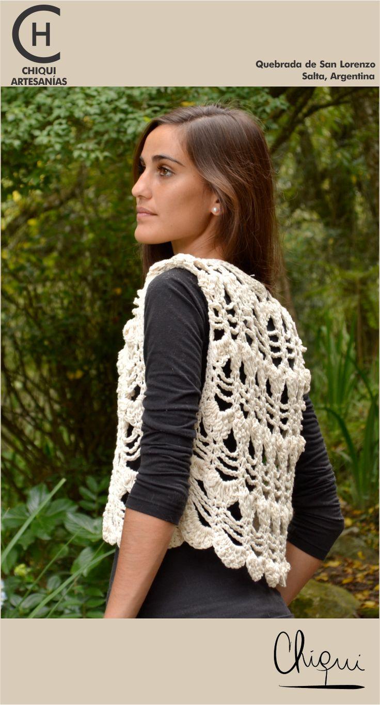 Chaleco - Crochet |  Quebrada de San Lorenzo, Salta, Argentina. facebook.com/chiquiartesanias