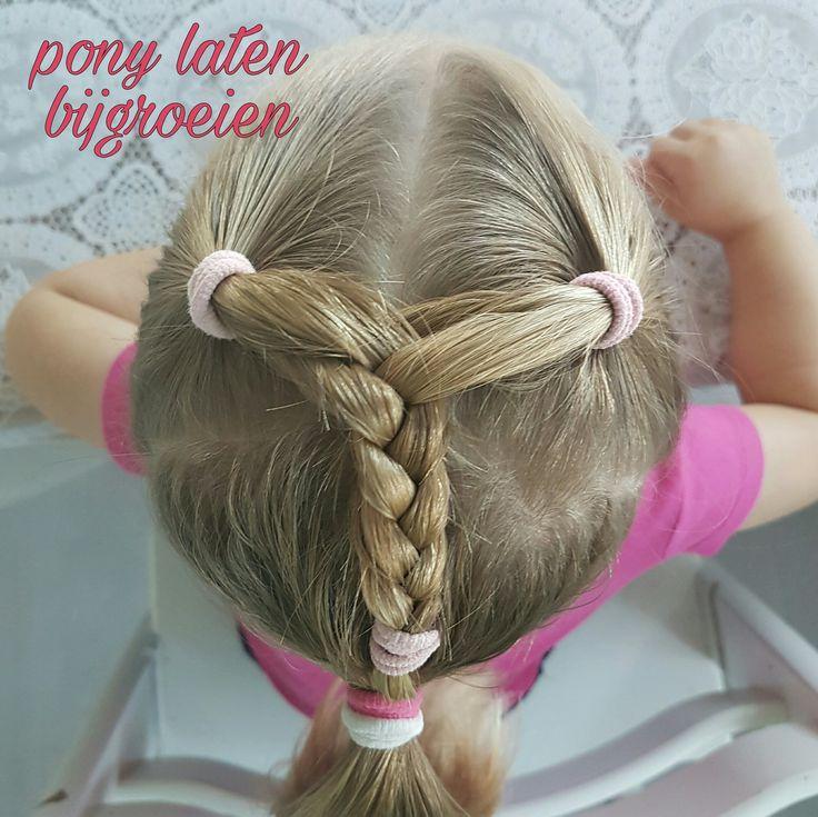 De pony vanje kleine meisje laten bijgroeien zonder speldjes: zo kan het ook #leukmetkids #kinderkapsel #meisjeskapsel