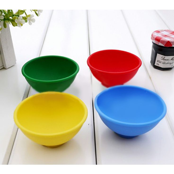 The Bowl Shaped Silica Gel Glass MuffinCup Silicone Cake Molds 1pcs | Wholeport.com