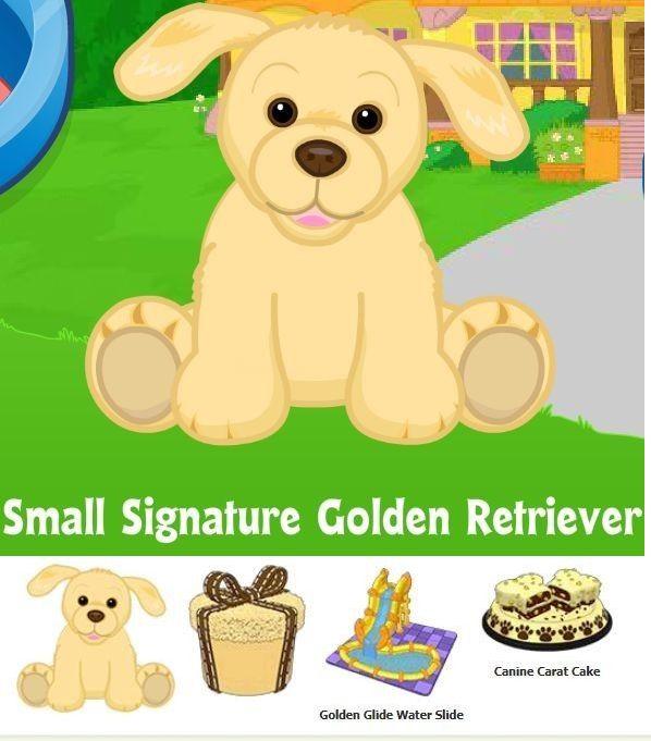Animals 150106 Webkinz Small Signature Golden Retriever Puppy Dog