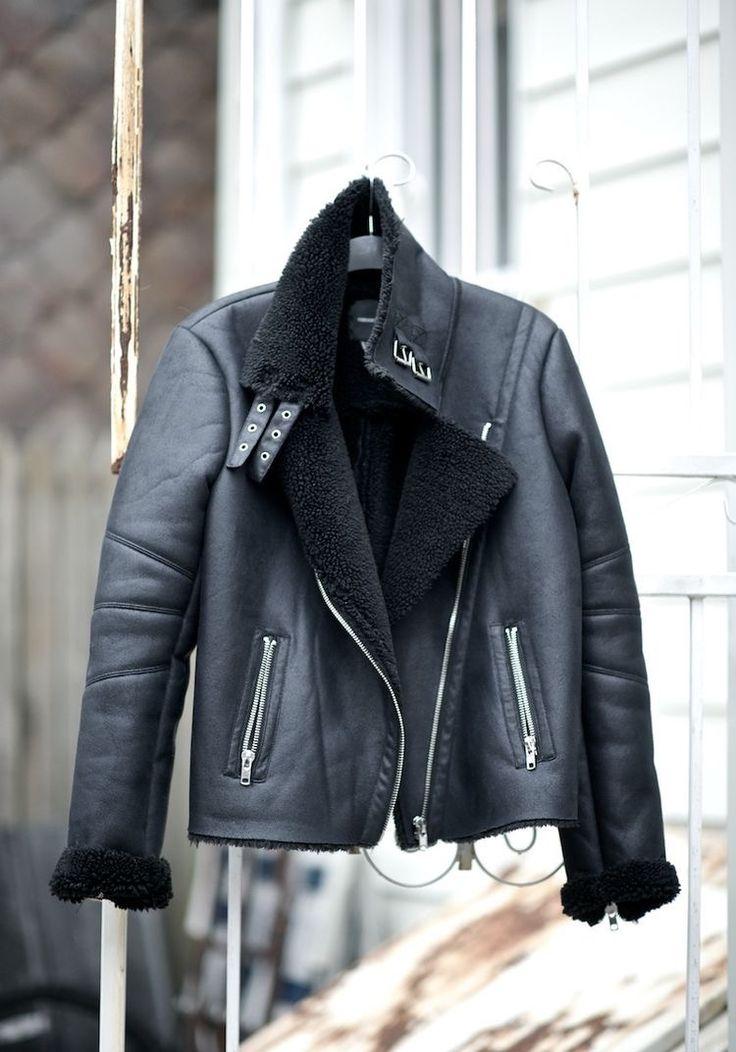 Shearling faux fur aviator jacket $89.99    alyannaclothing.com