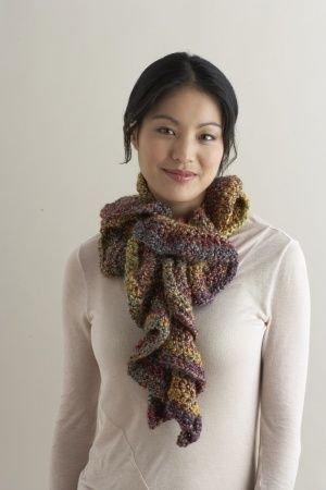 Lovely Crocheted Spiral Scarf Pattern.