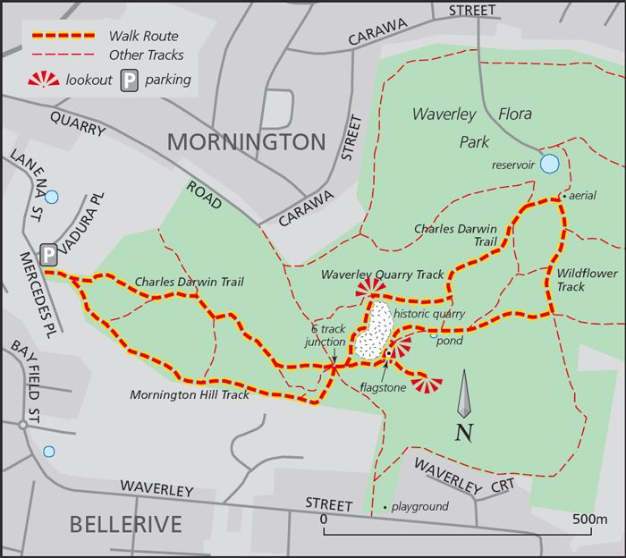 Waverley Wildflower Walk map