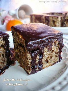 Gabriella kalandjai a konyhában :): Diós kavart sütemény csokimázzal - egy igazi Nagyi süti