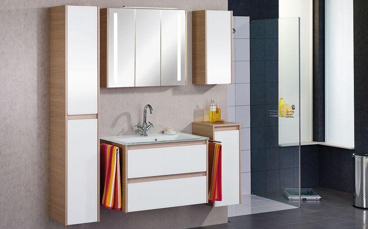Das FACKELMANN Badmöbel VIORA Weiß ist modern, schenkt Ihrem Badezimmer Platz und Stauraum, ohne Sie einzuengen. Vormontiert geliefert, einfach einbaubar.