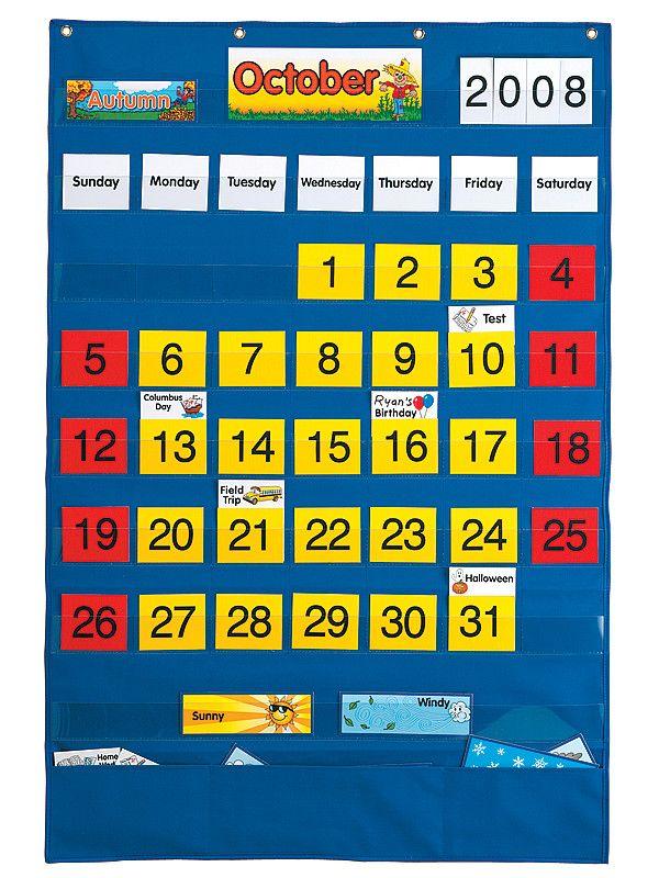 Kindergarten Calendar Pocket Chart : Ideas about pocket charts on pinterest