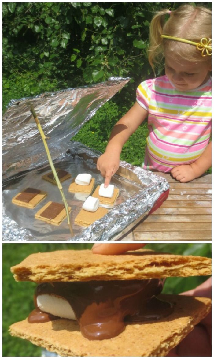 Make solar s'mores- such a FUN Summer activity that is educational, too!