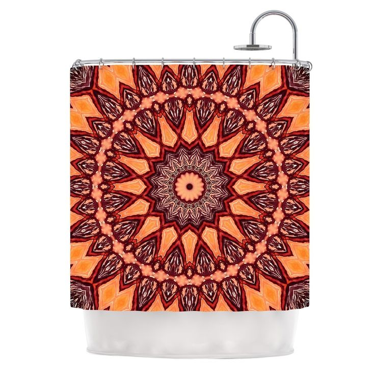 Curtain Ideas Brown And Orange Orange Things Ideas About: 25+ Best Ideas About Orange Shower Curtains On Pinterest